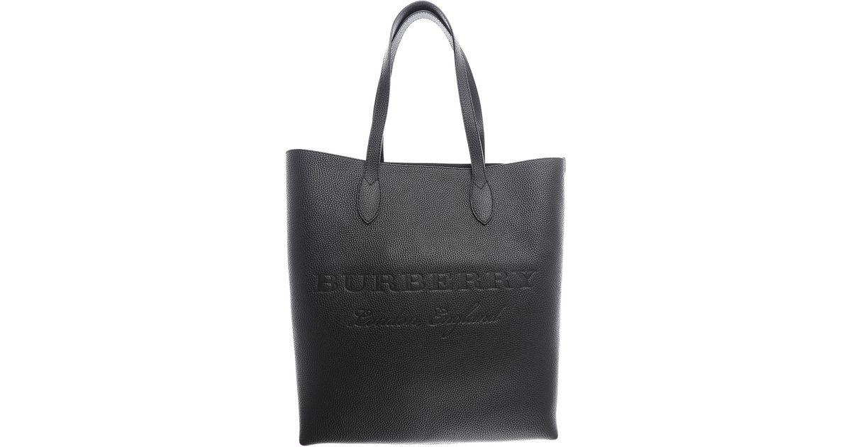 8b387114edf9 Lyst - Burberry Handbags in Black