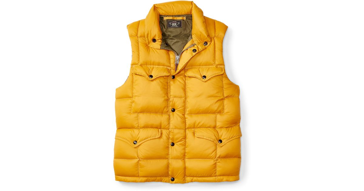 Well-known Lyst - Rrl Lightweight Down Vest in Yellow for Men FY01