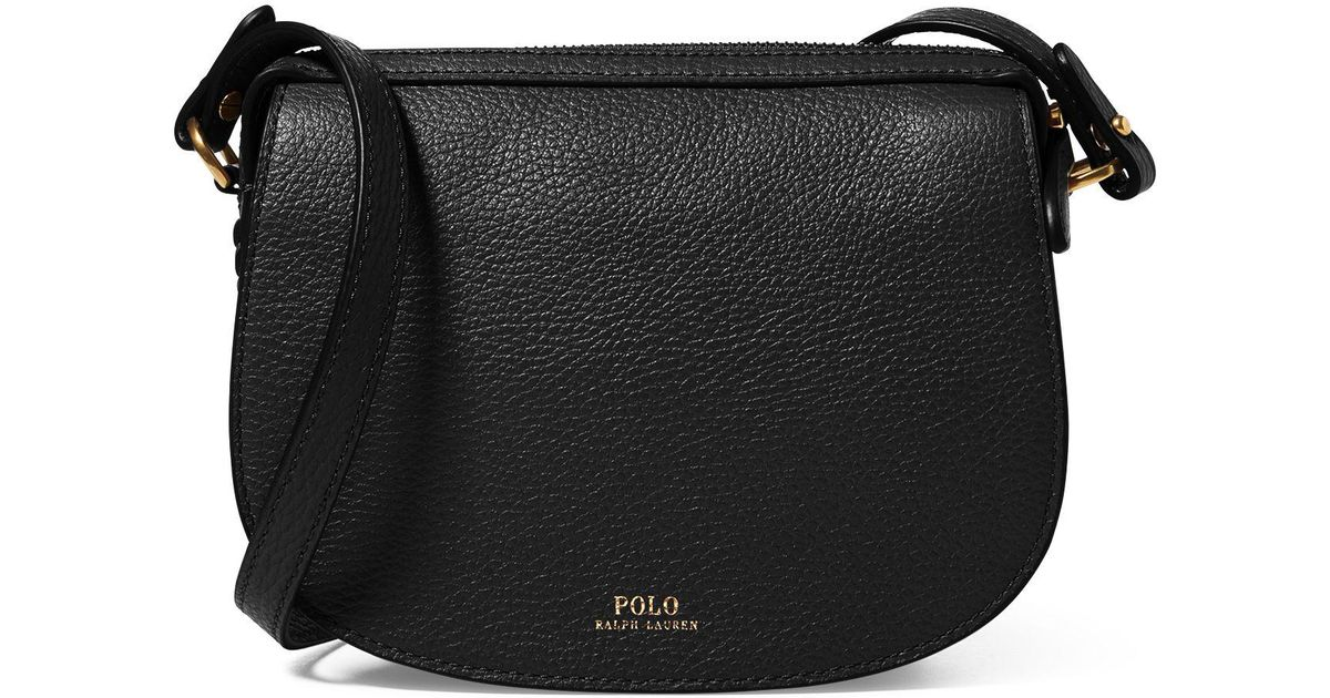 ... usa polo ralph lauren leather mini crossbody bag in black lyst 260df  2beb4 2bf5c4fb3a275