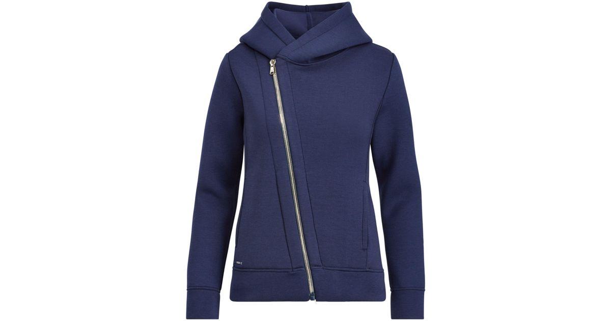 8d14c3259 ... greece lyst polo ralph lauren asymmetrical zip up hoodie in blue 128de  b6314