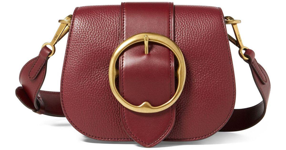 Polo Ralph Lauren Pebbled Leather Lennox Bag - Lyst 90c00cc3b5409