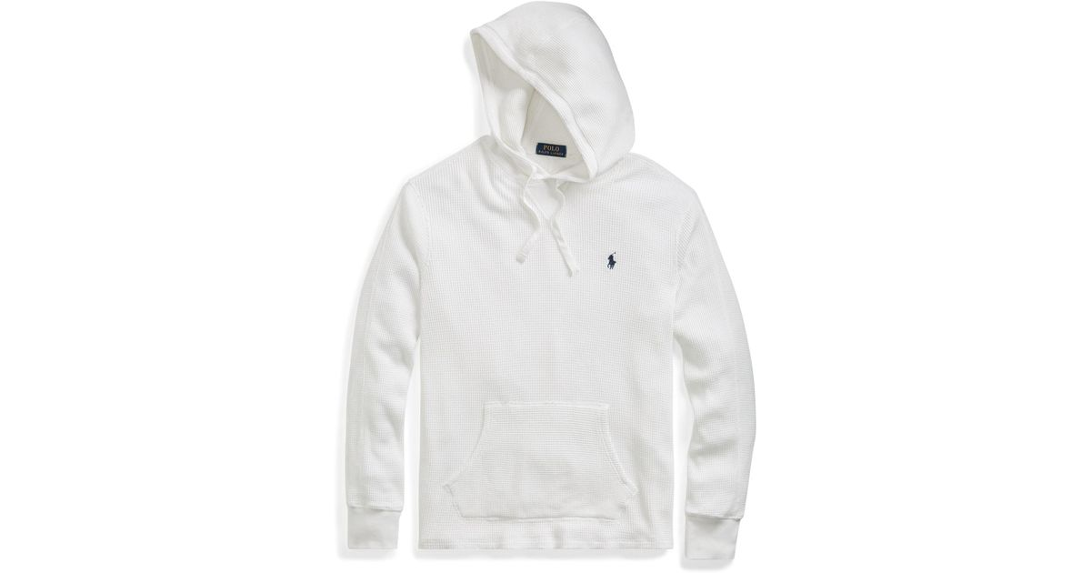 334dbbc9b Polo Ralph Lauren Waffle-knitted Cotton Hoodie in White for Men - Lyst