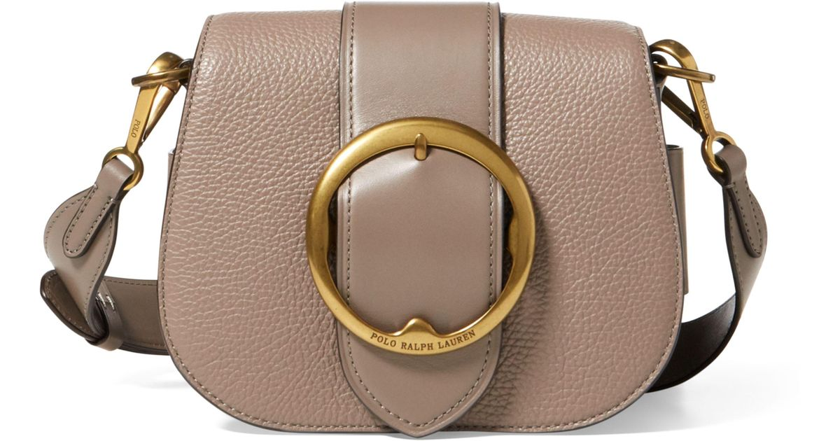bc1050e6a3 Lyst - Polo Ralph Lauren Pebbled Leather Lennox Bag in Brown
