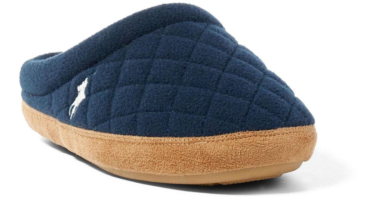 d30efe891954 Polo Ralph Lauren Jacque Quilted Fleece Slipper - Lyst