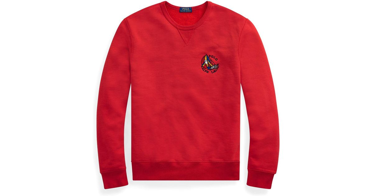 Cotton Polo Men Sweatshirt Lauren Blend Cp 93 Lyst Ralph For Red NmOnwv80y