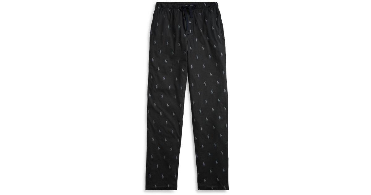 6cb56a1a92 Polo Ralph Lauren - Black Pony-print Pajama Pant for Men - Lyst