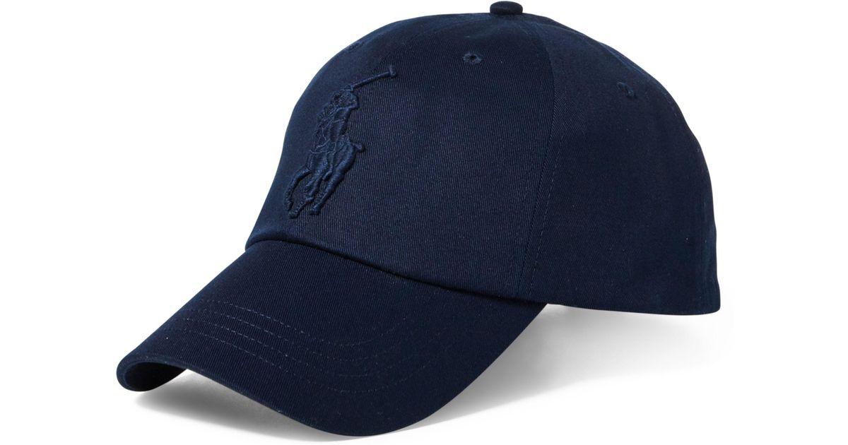 406ded7f6ec2b0 Polo Ralph Lauren Cotton Chino Baseball Cap in Blue for Men - Lyst