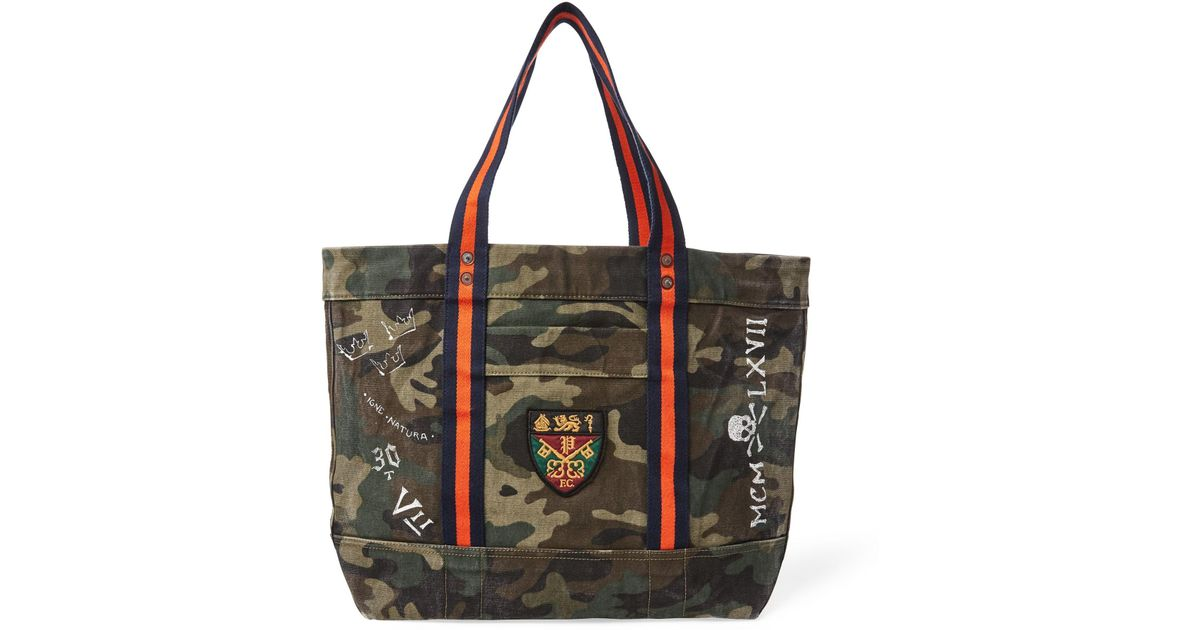 71e036913b Lyst - Polo Ralph Lauren Crested Canvas Tote for Men