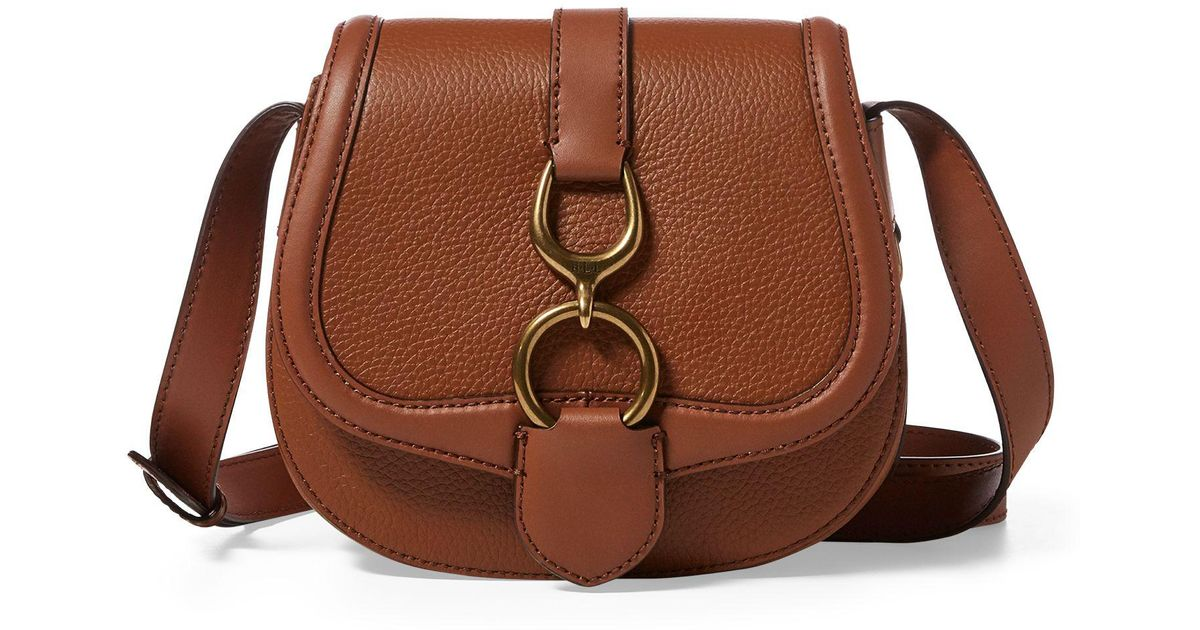 4e4c69035b53 ... discount ralph lauren leather small saddle bag in brown lyst 33ef7 5ad7e