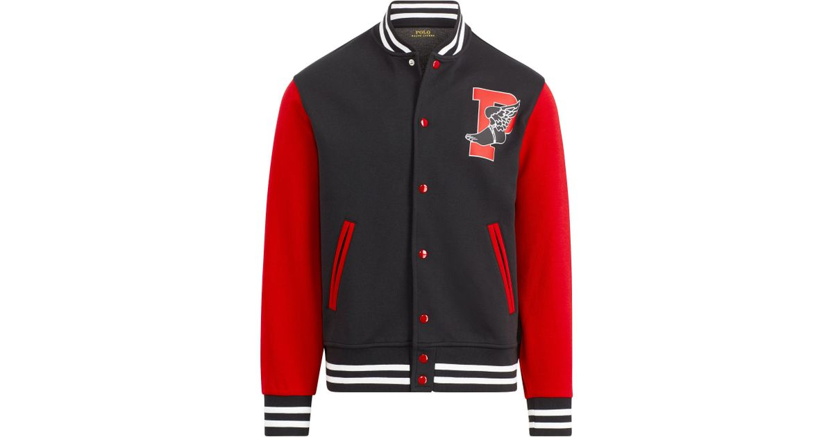 a22a68dba5391 Polo Ralph Lauren P-wing Baseball Jacket in Red for Men - Lyst