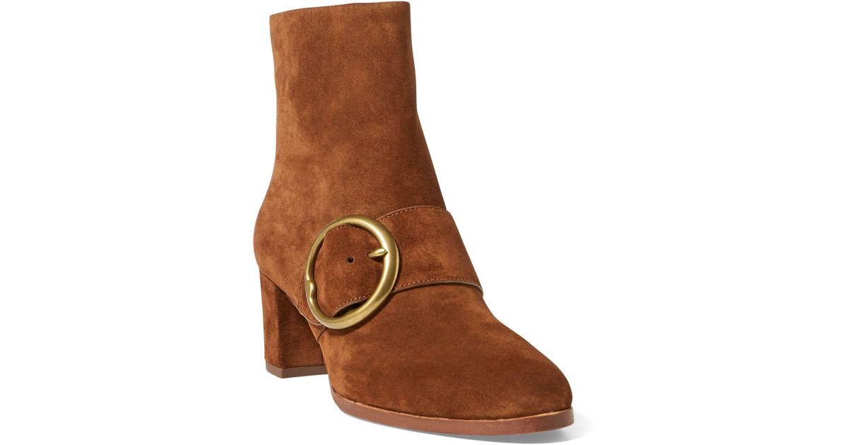 96be231c2 Lyst - Polo Ralph Lauren Maddie Suede Ankle Boot in Brown