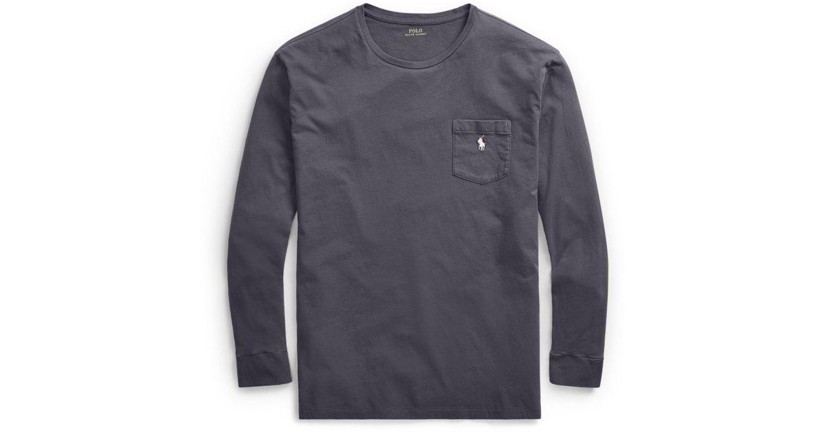 3996e9b8a07a Polo Ralph Lauren Custom Slim Fit Cotton T-shirt in Gray for Men - Lyst