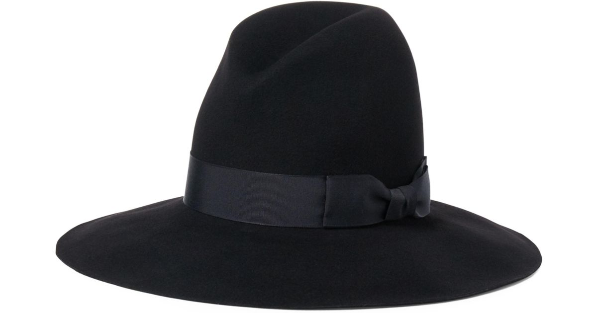 Lyst - Ralph Lauren Wool Felt Wide-brim Hat in Black a779b1c9f182