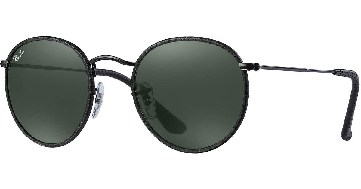 Ray ban round craft in green lyst for Ray ban craft round