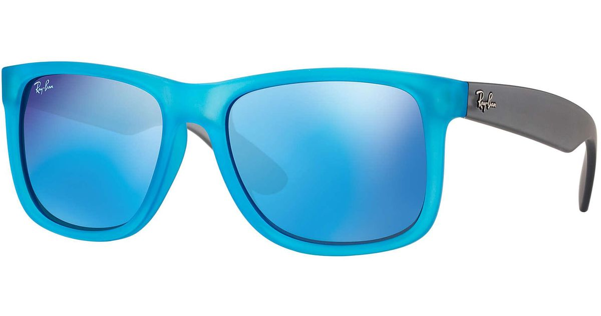 4d1fcc71ae ... get lyst ray ban justin color mix in blue 268fd 7c50b