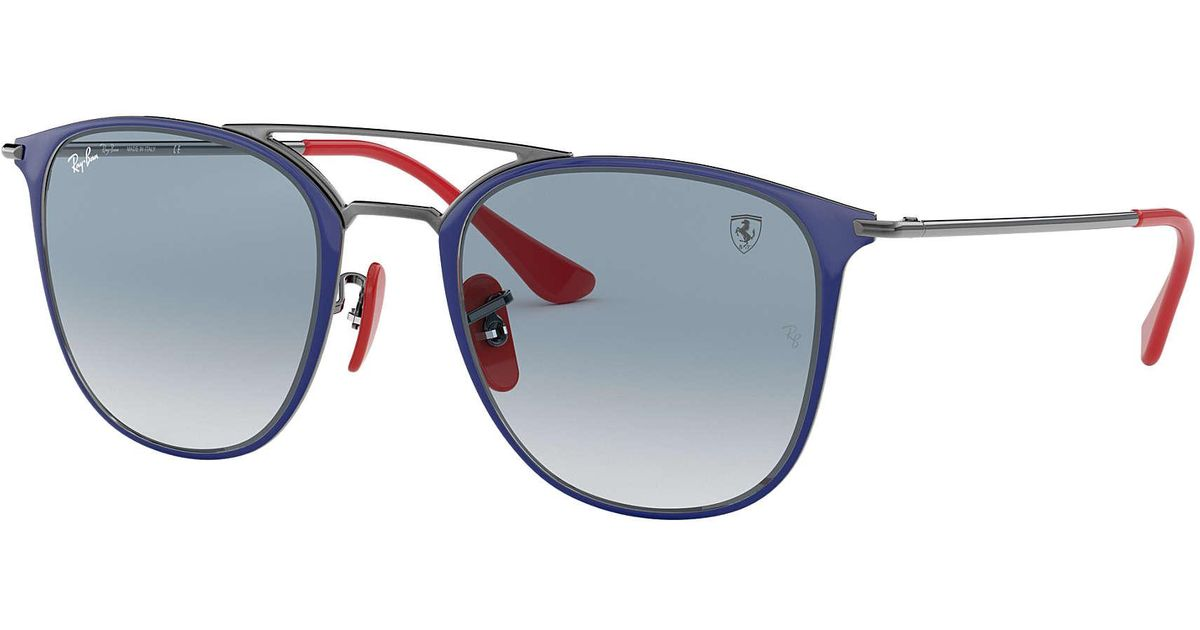 ray ban scuderia ferrari collection rb3601m in blue for. Black Bedroom Furniture Sets. Home Design Ideas