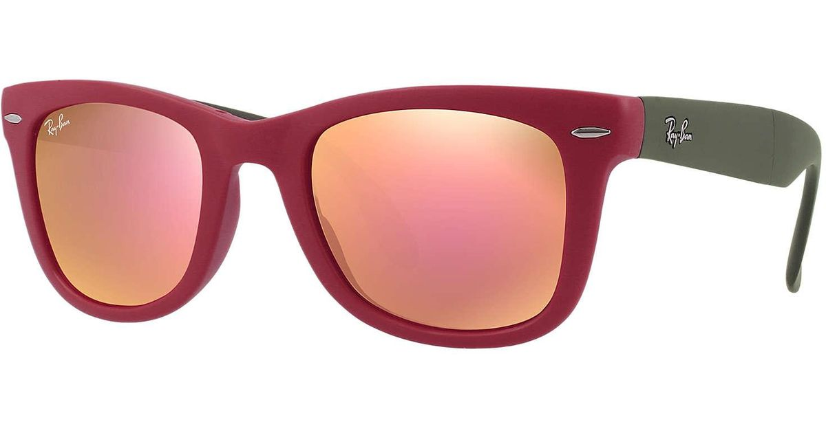 a90202b2d5 Lyst - Ray-Ban Wayfarer Folding Flash Lenses in Red