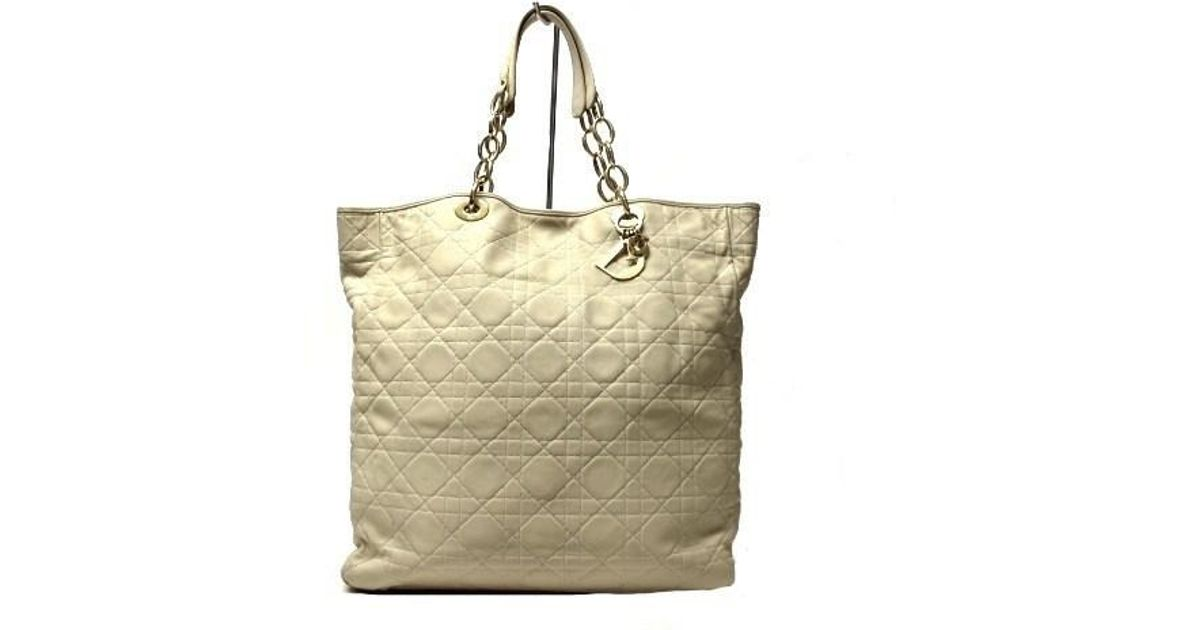 52952f256ab0 Lyst - Dior Shopping Cannage Ivory in Natural