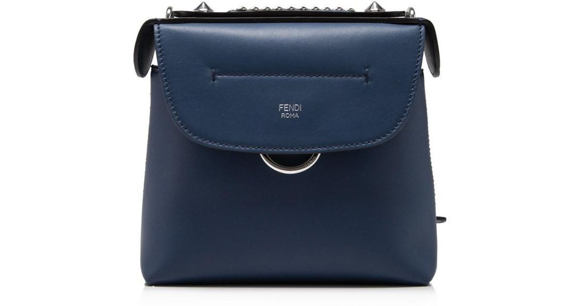 4d4188339cce Lyst - Fendi Back To School Mini Backpack in Blue