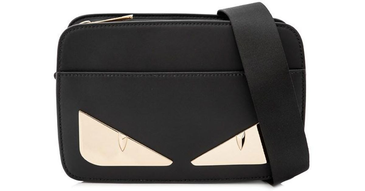 Lyst - Fendi Black Bag Bugs Messenger Bag in Black for Men - Save 38% 81154302bff68