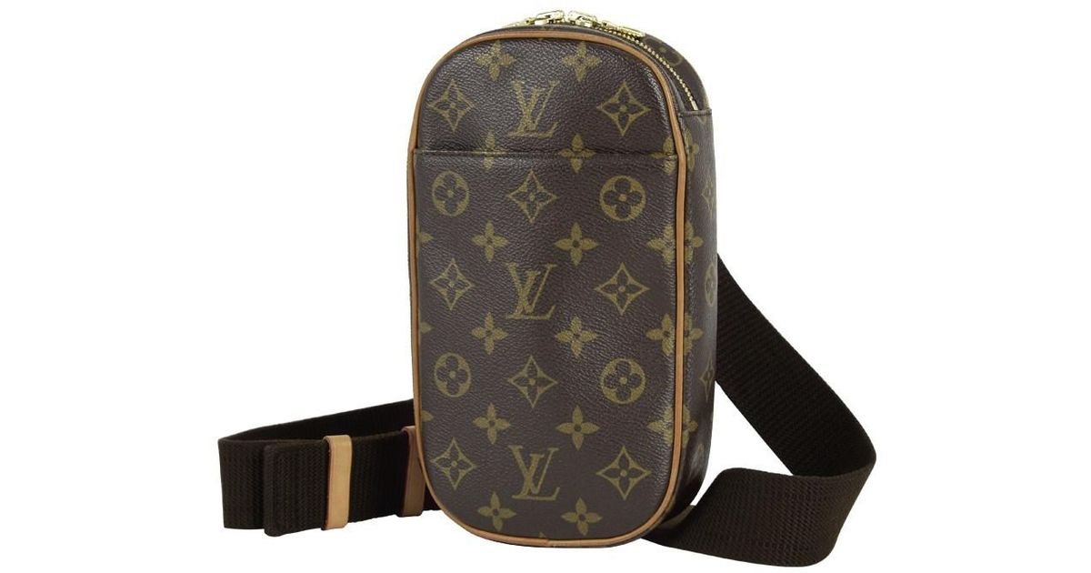 4b470f9dfdf3 Lyst - Louis Vuitton Pochette Gange Shoulder Body Bag 2way Monogram M51870  Mens Brown Recommendation  pre-owned  in Brown for Men