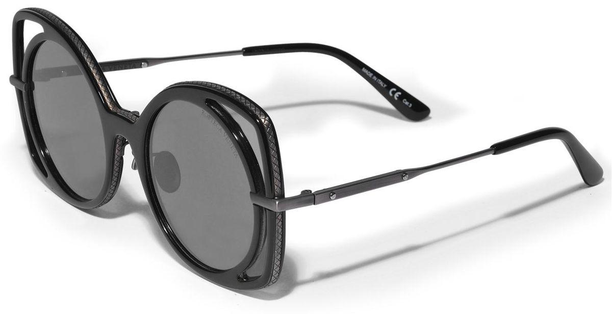 Multi Treatment Sunglasses in Havana Acetate Bottega Veneta yHTcZ8F