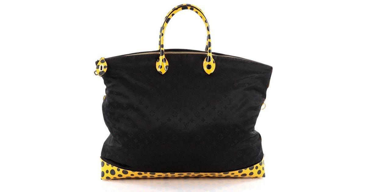 50a25f649f0c Lyst - Louis Vuitton Desire Lockit Bag Monogram Nylon Kusama Infinity Dots  Gm in Black