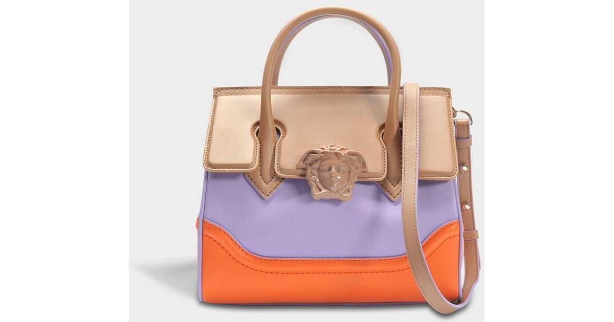 54d1532991df Lyst - Versace Palazzo Empire Small Bag in Purple