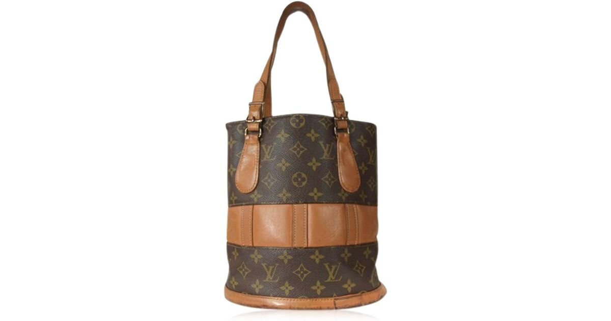 92c1b0a44a Louis Vuitton Authentic Usa Bucket Monogram Canvas, Leather Tote Shoulder  Bag Purse in Brown - Lyst