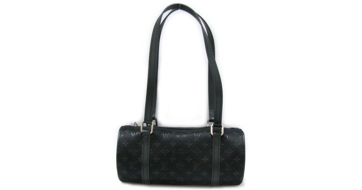 5a3a109e0eaa Lyst - Louis Vuitton Little Papillon Handbag M92352 Monogram Satin Noir  Black in Black