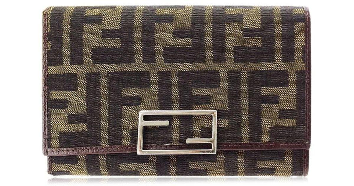 6f350930 Fendi - Brown Wallet Purse Triplicate Wallet Zucca Women''s Men''s Yes Used  P642 - Lyst