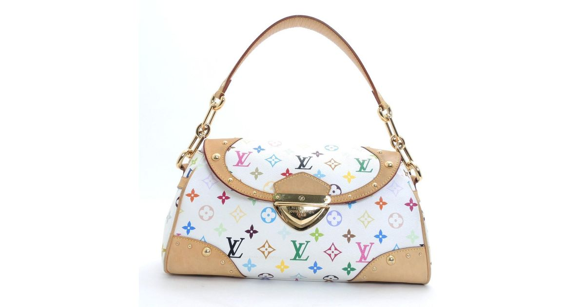 9f3d4eff8cf9 Lyst - Louis Vuitton Monogram.multi-color Beverly Mm Shoulder Bag M 40203  in White
