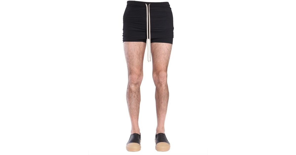 c678345ad3 Rick Owens Swim Shorts in Black for Men - Lyst