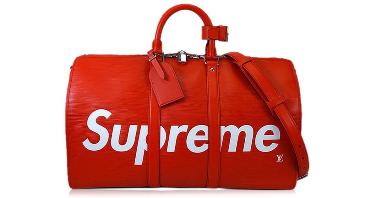 03366176913e Lyst - Louis Vuitton 2017aw Limited X Supreme Traveling Bag