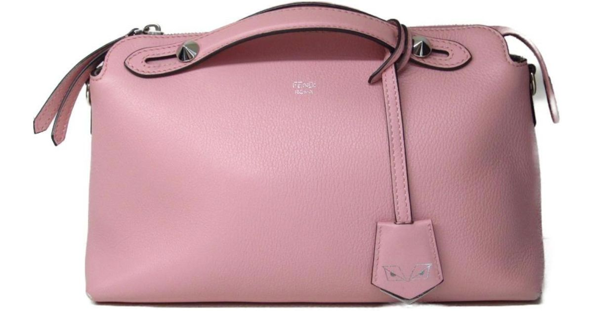 42db711da1b6 Lyst - Fendi By The Way Shoulder Hand Bag 8bl124 Leather Pink Used Vintage  in Pink