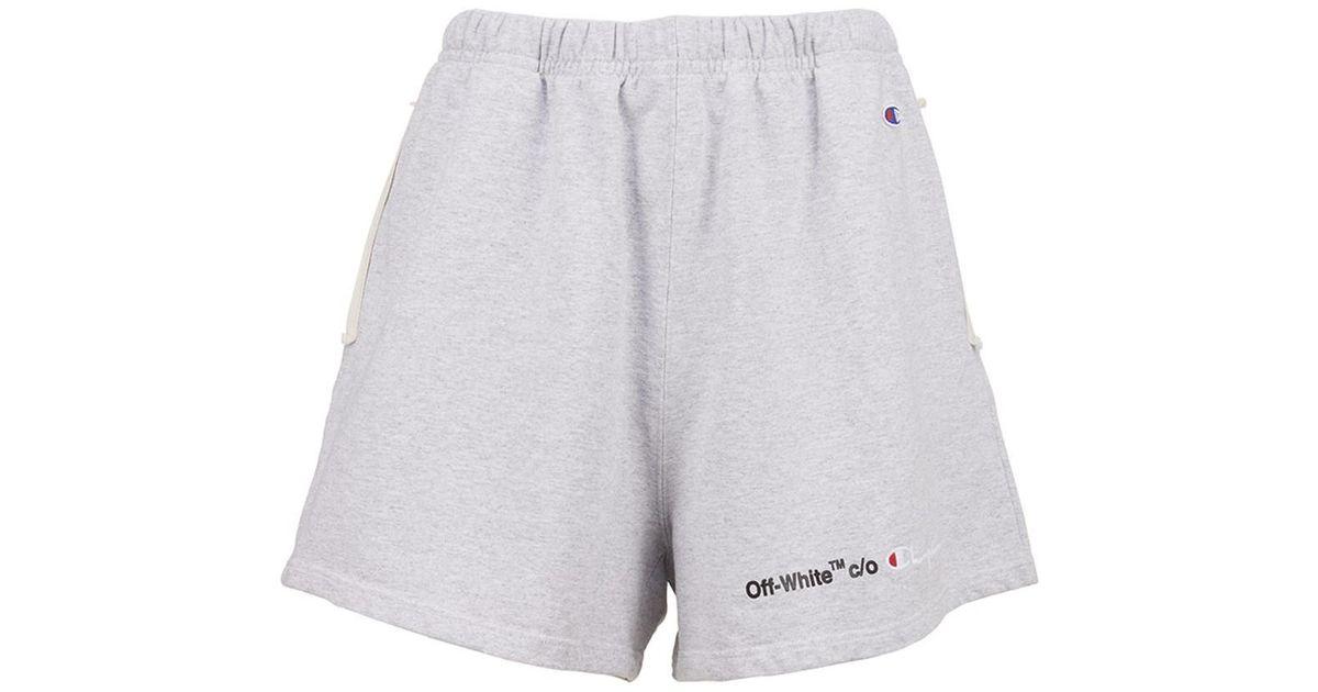 e8bfef91 Off-White c/o Virgil Abloh X Champion Shorts in Gray for Men - Lyst