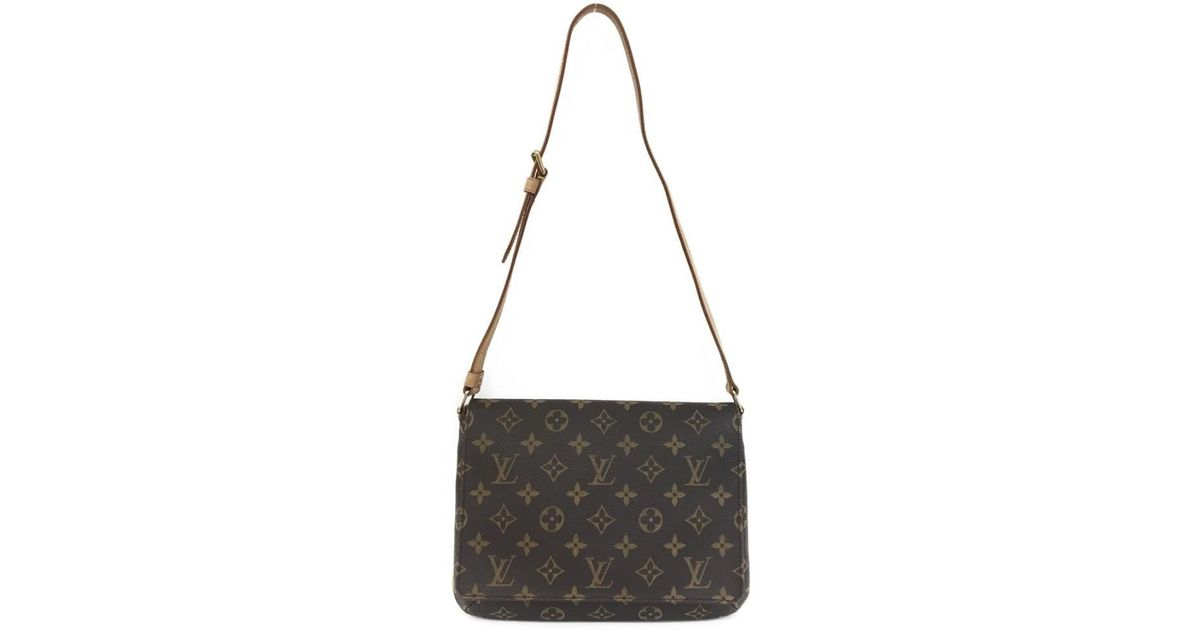 d92282734dac Lyst - Louis Vuitton Musette Tango Short Shoulder Bag Monogram Canvas Brown  M51257 in Brown