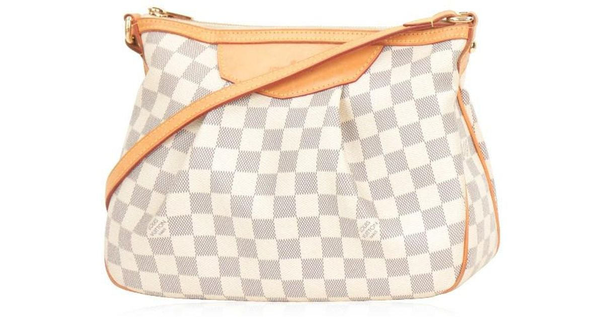 af71090c8ef2 Lyst - Louis Vuitton Damier Azur Siracusa Pm Crossbody Shoulder Bag Good   9t053 in Gray