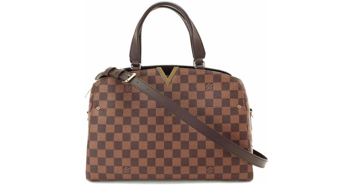 ed1bb0832d Louis Vuitton Damier Kensington Bowling Hand Shoulder Bag N41505 90048128..  in Brown - Lyst