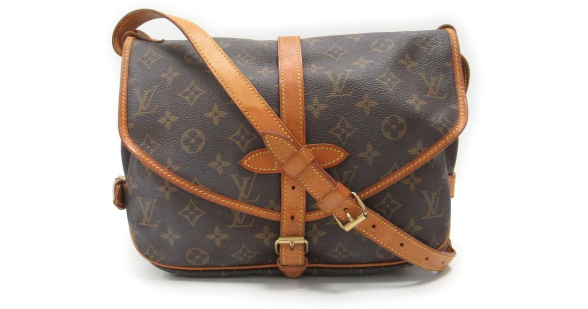 1951d0d3bd23 Lyst - Louis Vuitton Saumur 30 Crossbody Shoulder Bag Monogram Canvas M42256  in Brown