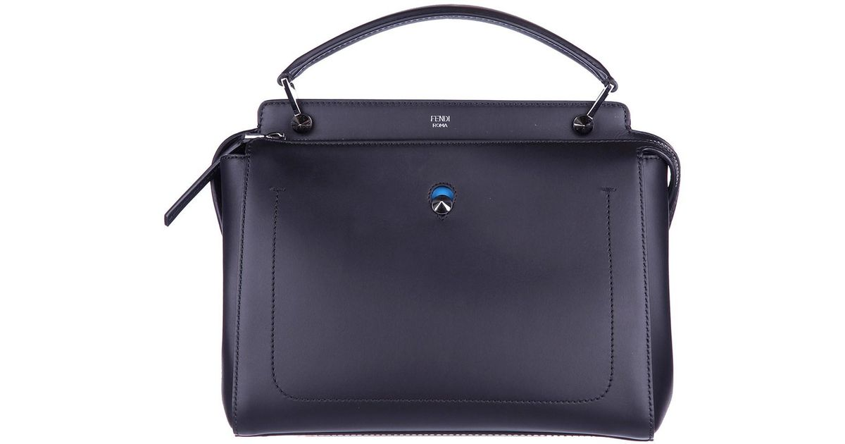Lyst - Fendi Leather Handbag Shopping Bag Purse Dotcom in Black fc24e302ff