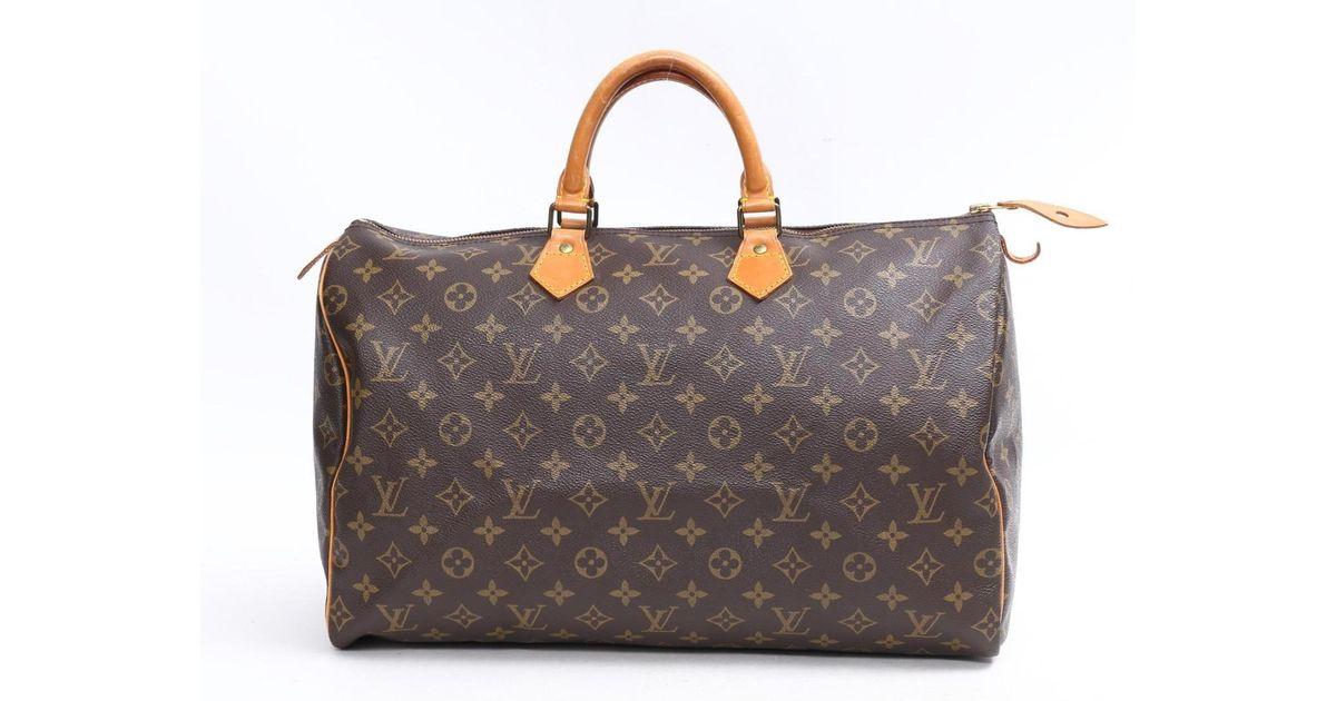 bf0448216983 Lyst - Louis Vuitton Speedy 40 Handbag Monogram Canvas M41522 in Brown