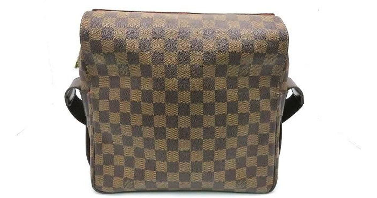 3fabf9058e0d Lyst - Louis Vuitton Damier Naviglio Shoulder Messenger Bag Brown N45255  0323 in Brown for Men