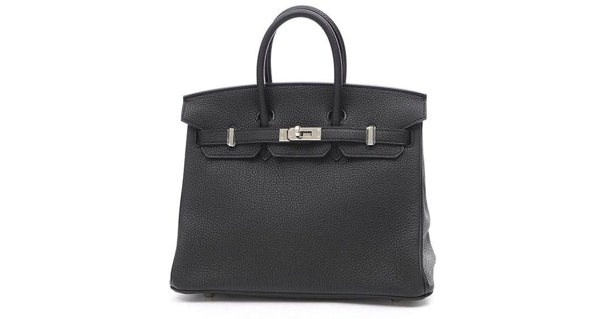 Lyst - Hermès Birkin 25 Togo Black Silverhardware A Marking in Black 75c40b6f2