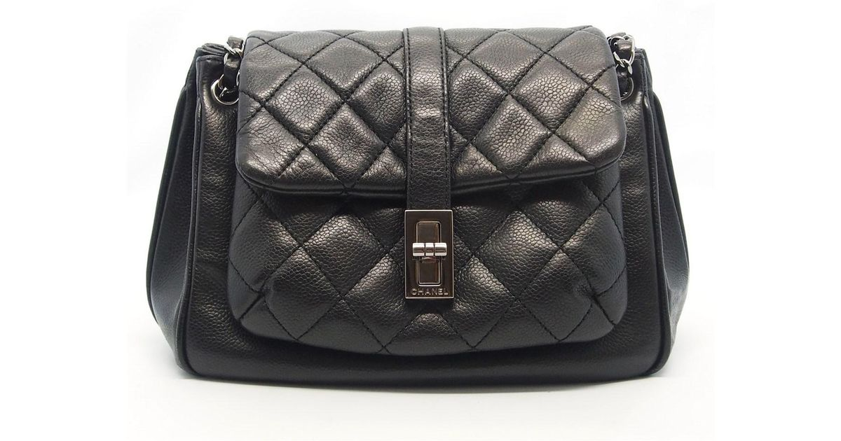 eb43a5619d25 Chanel Authentic Black Quilted Soft Caviar Leather Reissue Accordion Flap  Bag 17043170 in Black - Lyst