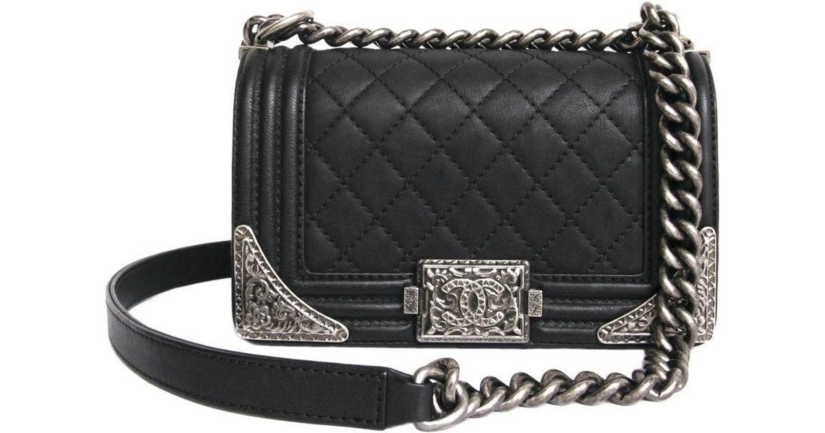 092c9b0e914aaf Lyst Chanel Paris Dallas Boy Flap Bag Limited Edition In Black