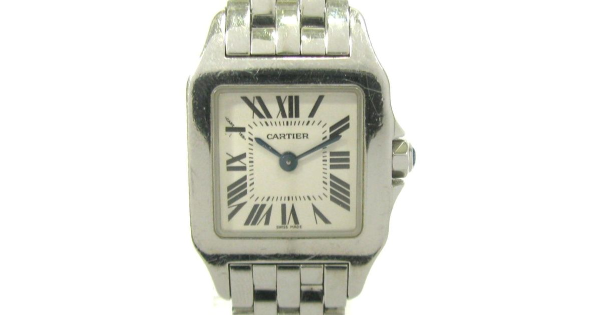 free shipping 005b8 a8b36 Cartier - Metallic Auth Santos Demoiselle Sm Watch W25064z5 Stainless Steel  (ss) Used - Lyst