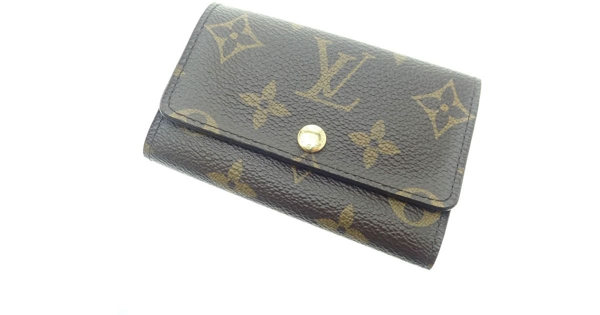 68760edff6 Lyst - Louis Vuitton Monogram Canvas Key Case M62630 Multicles 6 in Brown