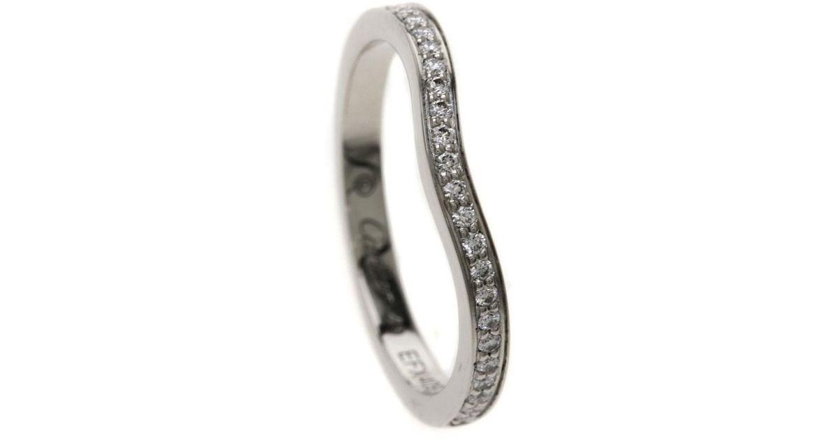 Lyst Cartier Platinum Pt 950 Ring Ballerina Wedding Ring Diamond