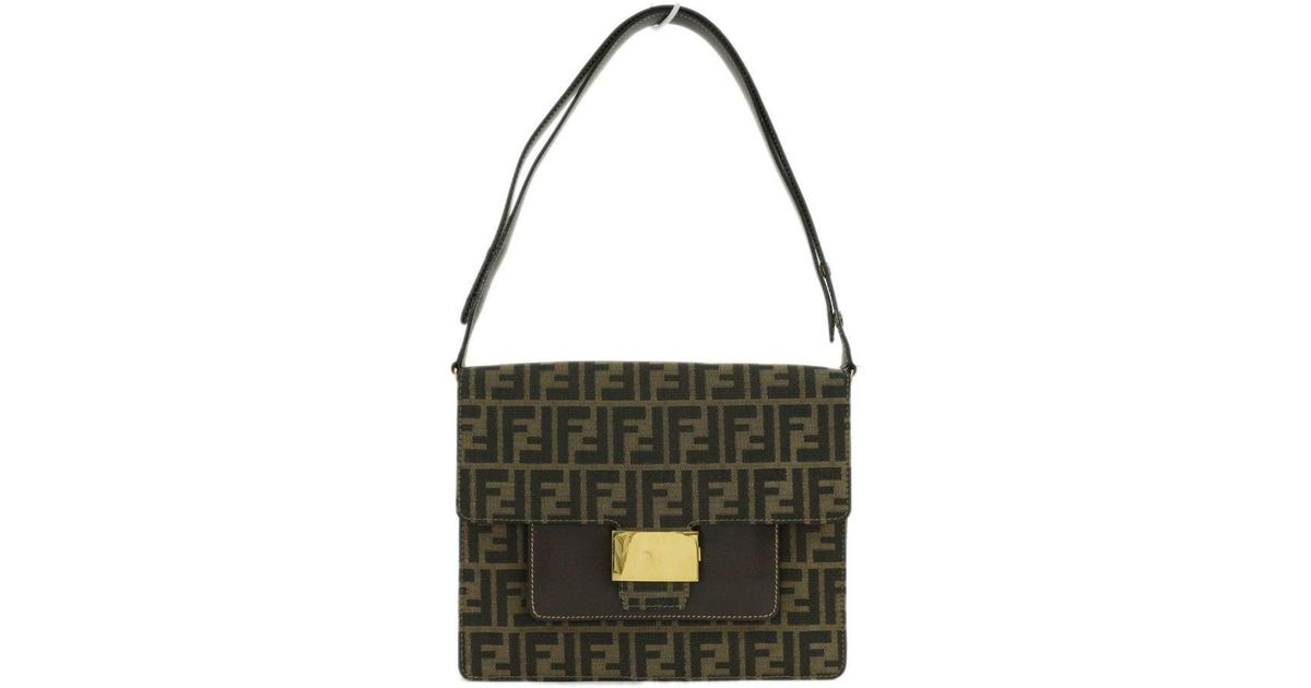 9541db4e95 Lyst - Fendi Ff Logo   Zucca · 2 Wayshoulder Bag   Brown X Gold   in Brown